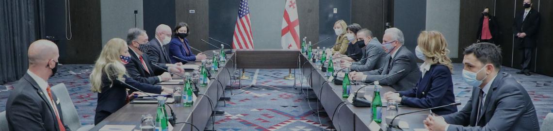 """""""უფლებები საქართველოს"""" წარმომადგენელი, სამოქალაქო საზოგადოების სხვა ორგანიზაციებთან ერთად, აშშ-ის სახელმწიფო მდივანთან შეხვედრას დაესწრო"""